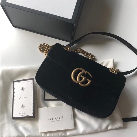 e810d9dee2c5 Gucci Bags   Brand New Marmont Velvet Mini   Poshmark